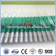 UV-Beschichtung Polycarbonat transparent Wellpappe