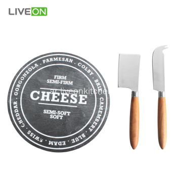 Nature Slate Cheese Slate Board Set