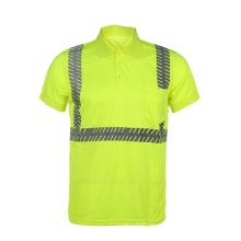 Camiseta de seguridad reflectante con patrón de moda de clase 2 con bolsillo