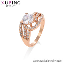 15578 Xuping fashion jewelry China wholesale rose gold ring elegant designs rings charm jewelry for women