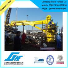 Grue plate-forme télescopique hydraulique pour navire