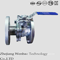ISO Stainless Steel Flanged Floating Ball Valve with Manul Handle