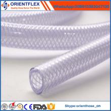 Tuyau d'eau renforcé par fibre de PVC anti-chimique coloré de bonne qualité