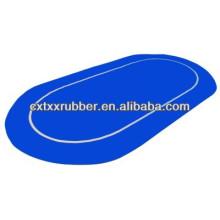 sure stick rubber foam table top blue color,sure stick anti slip back poker felt top