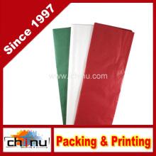 Papel de tecido - vermelho, verde e branco (510049)