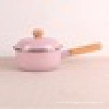 china enamel kitchen accessories single handle pot & milk pot & sauce pan