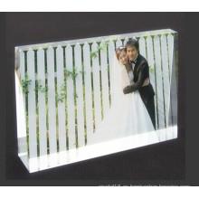 Hermoso marco de fotos de cristal de regalos de boda baratos
