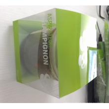 Caja de plástico de embalaje transparente transparente personalizado (paquete de impresión)