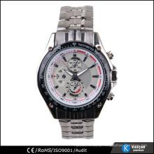 luxury man watch, quartz stainless steel back watch