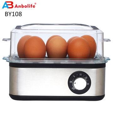 Fogão de ovos multifunções Caldeira a vapor elétrica para alimentos com capacidade para 7 ovos Caldeira de ovos elétrica