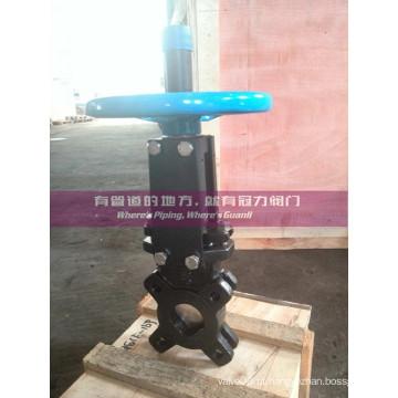 Válvula de porta da faca do tratamento da água do ANSI 150 #