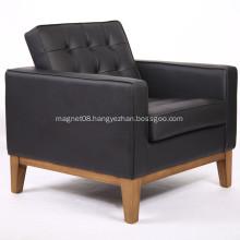 Knoll Style Wood Frame Fabric Single Sofa