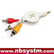 3,5 bis 3xRCA flexibles Kabel (gelb, weiß, rot)