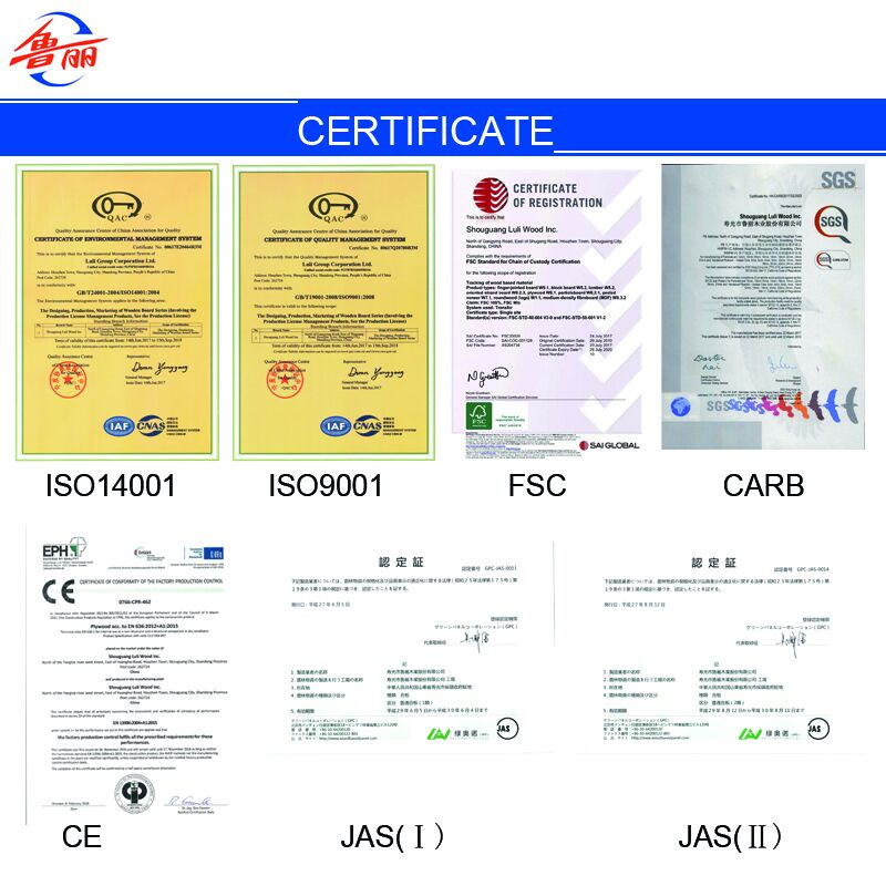 Finger joint board Certificate