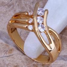 hombres alianzas de boda oro anillos de dedo cz bisutería