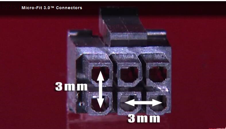 3.0pitch Micro-fit connectors