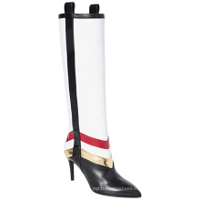 Plus Size Thigh High Boots Stripe Knee High White Pointed Toe Womens Heels Sexy 2020 Shoe Manufacturer Custom Heels Women