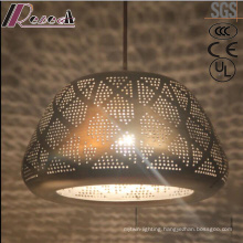 Ancient and Black Round Pendant Light with Dining Room