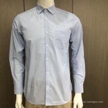 Camisa hombre 100% algodón jacquard manga larga