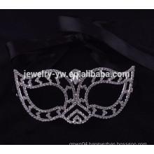 fashion metal silver plated crystal party mask masquerade masks