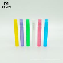 o cilindro colorido personalizado 10ml esvazia o frasco plástico do pulverizador da névoa dos pp