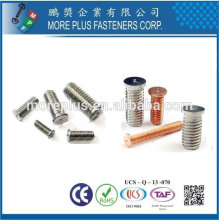 Taiwan Stainless Steel Titanium DIN 32501 Self-clinching Standoff Bolts Weld Studs