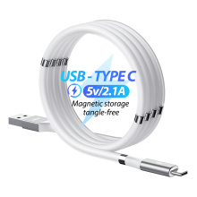 Remax Join Us   White Self Winding USB Type - c Magnetic usb Charging Data Cable