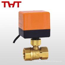 2 способ электрический поток управления красный латунь моторизованный шариковый клапан для воды