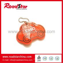 Hi vis pvc reflective key ring material, lifesaver accessories
