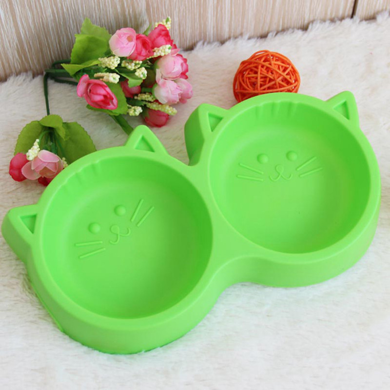 Pet-Products-Plastic-Cat-Face-Pet-Bowl-Environmental-Protection-Non-toxic-Dog-Food-Double-Bowl-Tableware (1)