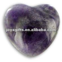 Puffy Heart shaped Amethyst stone 35MM