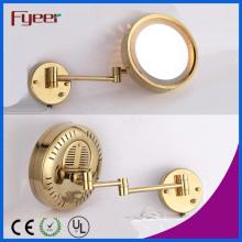 Fyeer Single Side Gold Plated Wall LED espelho de maquiagem