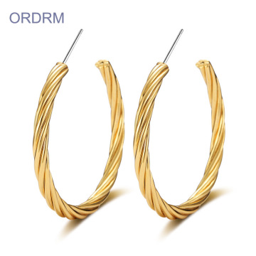 Bulk Tembaga Cool Earrings Gold Hoop Earrings