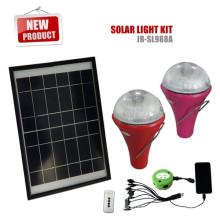 Système de lampe solaire avec 3 Ampoules led pour l'éclairage éclairage/camping / d'urgence à la maison