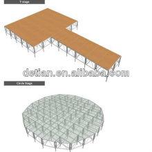Shanghai Fournisseur intérieur aluminium poutre treillis stade carré poutre treillis étape équipement