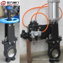 Válvula de porta com furo DIN com atuador pneumático de ação dupla
