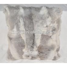 Funda de cojín de piel de conejo Funda de almohada de piel