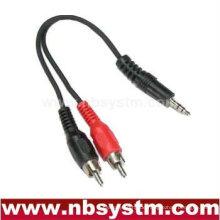 3,5-mm-Stereo-Stecker auf 2 Cinch-Stecker
