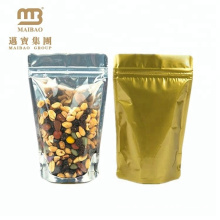 Cheap Resealable Clear Transparent Zipper Plain Standing Pouch for Food with Ziplock