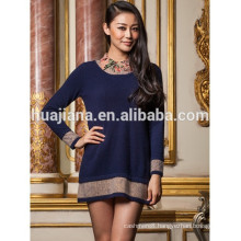 fashion printing cashmere women's knitting dress