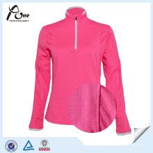 Quarter Zipper Dri Fit Running Shirt for Women Sports
