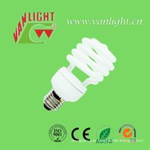 Media espiral 23W T2 CFL lámpara, iluminación de ahorro de energía