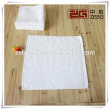 100% Cotton 30*30cm Square White Wholesale Hotel Hand Towel
