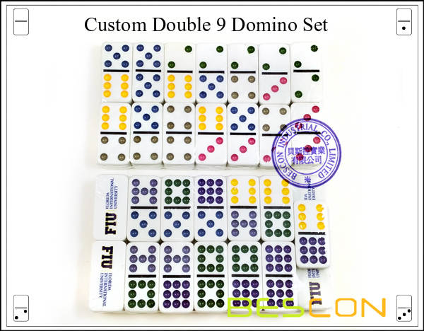 Custom Double 9 Domino Set-2