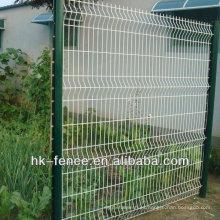 valla de soldadura de hierro EURO barato tráfico llano revestido pvc