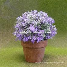 Fabrication de fleurs artificielles à bas prix à l'hydrangea