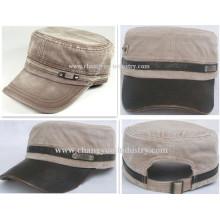 Diseño modificado para requisitos particulares del dril de algodón ejército plana tapa sombrero proveedor