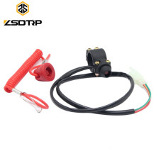 Racing 7/8inch 22mm Motorcycle ATV Quad Engine Emergency Kill Switch Tether for Motorcycle Switches