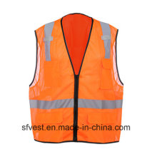 High-Visibility Reflective 100% Polyester Mesh Safety Vest