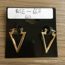 Simple Triangle Earrings with Metal